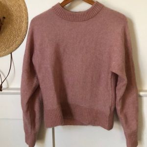NWOT Mohair wool blend Rose pink sweater!